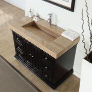 Marble Travertine Vanity Top and Sink