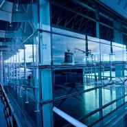 China Custom Size Energy Saving Airport Unit Curved Interior Glass Curtain Walls