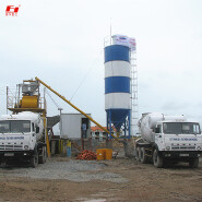cement mixing station HZS35 concrete dry powder mixing plant