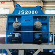 double shaft JS2000 concrete mixer automatic discharge material convenient to belt conveyor cement mixing capacity is large