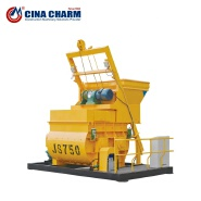 JS750 small type electric concrete mixer machine for sale JS750 0.75m3 twin shaft concrete mixer concrete mixer(JS750)