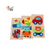 Original Factory Wooden Puzzle Learning Animal Toy Educational Children Jigsaw Wooden Brain Puzzle