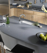 Grey mirror quartz polished used in kitchen top and vanity top 017