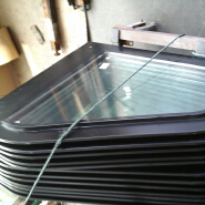 10+10+10mm laminated walk on skylight for flat roof
