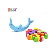 New Model Wooden Balance Scale Toy Dolphin Educational Coloful Kids Toy Dophin Wood Balance Toy