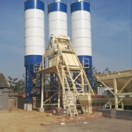 Container universal stationary cement low cost modular central control 75m3/h concrete batching plant price