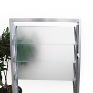 5mm 4mm obscure clear louver glass price for windows