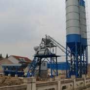 Malaysia 75m3 h cement bucket type mini ready mix concrete batching plant for sale