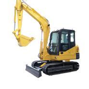 Haitui 6 ton wheel hydraulic excavator for sale