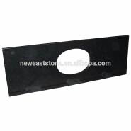 China prefab black galaxy granite countertop/bathroom granite vanity top price