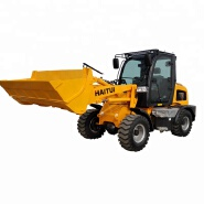 Haitui Brand CE approved ZL918D mini wheel loader with sweeper