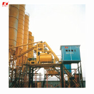 HZS60 concrete mixing plant electronic precision batching, high quality fly ash mixture mixing station