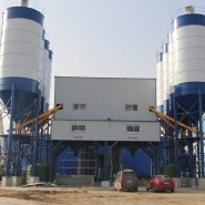 Advanced ready mixed fully automatic self loading HZS180 concrete batching plant in Cambodia