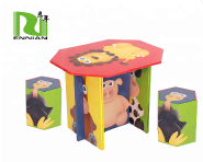 children DIY paper furniture cardboard table and chair