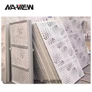 Powder coated or PVDF CNC Cutting Perforated Panels Aluminum Screen
