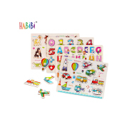 Hot Sale Jigsaw Puzzle with Wood Frame Hand Grab Math Wood Educational Kids Wooden Jigsaw Puzzle