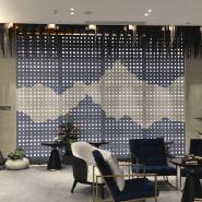 Interior Aluminum Laser Cut Perforated Decorative Digital Printing Screen For Office Decoration