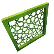 Building Aluminium Mashrabiya Cladding Facade Laser Cutting Panels For Exterior Wall Decoration