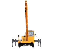 Hydraulic Mini Crane Mounted Truck with 8 ton Homemade construction equipment