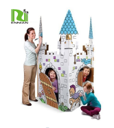 Fascinating Cardboard Toy House , Cardboard Craft House for Children