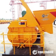 JS500 Forced Type Electric Concrete Mixer Price Made In China JS500 Twin Shafts Concrete Mixer