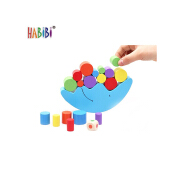 Reliable and Good Wood Balancing Toy Moon Educational Wood Kids Coloful Toy Wooden Balance Toy Moon