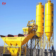 simple quick installation HZS50 concrete mixing plant machinery manufacturer hot sal ISO international certification