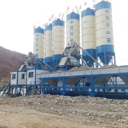 HZS50 fully automatic electrical ready mixed precast equipment durable small concrete batching plant