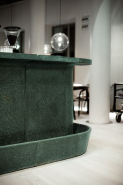 Dark green terrazzo tiles for countertop 026