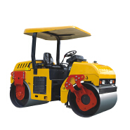 3tone double drum vibration roller mount type road roller