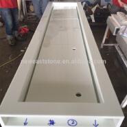 solid surface white nano glass bathroom countertop