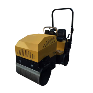 Ride-on road roller compactor machine
