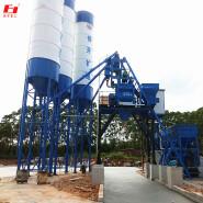 HZS75 middle-sized premixed concrete mixing plant conveyor premixed concrete batching plant