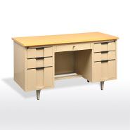 I shaped Metal frame Large long luxury manager office desk