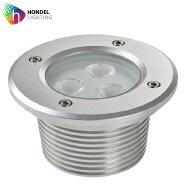 Round 3W LED Underground Light for Inground Recessed Paving Buried Lighting