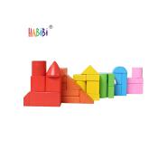 Customize Wood Block Stacker Set Educational Kids Toys Wooden Toy Building Blocks