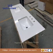 Yasta White cheap synthetic marble bathroom polished countertop
