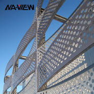 Decorative Hollow Carved Perforated Aluminum Panel Punched metal sheet