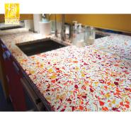 BOTON New Design Artificial Stone Terrazzo Kitchen Countertop 025