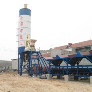 HZS25 central control automatic fixed type advanced electrical small concrete batching plant price
