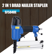 Rongpeng 2 In 1 Combi Nail Gun Air Nailers and Staplers For Wood Working