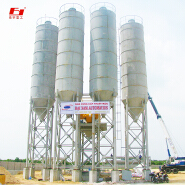 high-performance HZS90 m3/h productivity stationary type Concrete mixing plant ISO9001 A certificate to prove