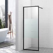 Matte tempered glass shower screen