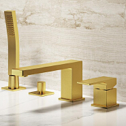 Antique brushed golden luxury bathroom brass bathtub faucet shower faucet with hand shower