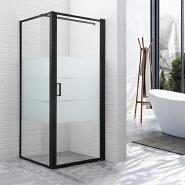 frosted shower door