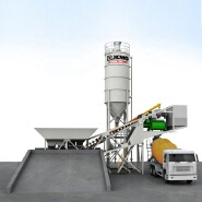 HZS60KY Mobile ready concrete mixing plant for sale