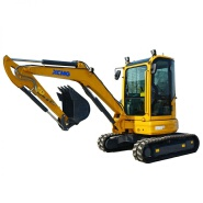 Used XE35U small excavator with operator cabin for sale