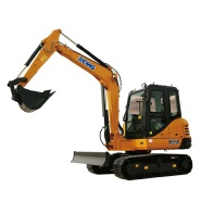 Factory supply XCM G XE55D mini hydraulic excavator with rotate grapple attachments for sale