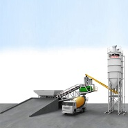 chinese brand 75m3/h HZS75KY Mobile concrete batching plant for sale
