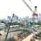 10 ton tower crane LUFFING LTC2750 used crane fly jib for sale